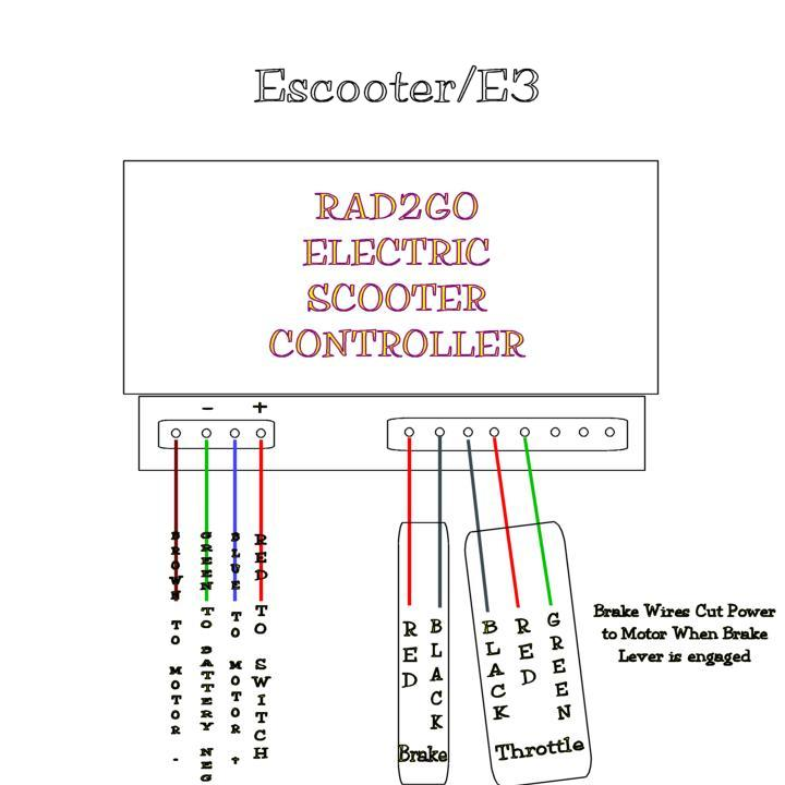 radcontroller parts alternative universal scooter parts mobility scooter battery wiring diagram at edmiracle.co