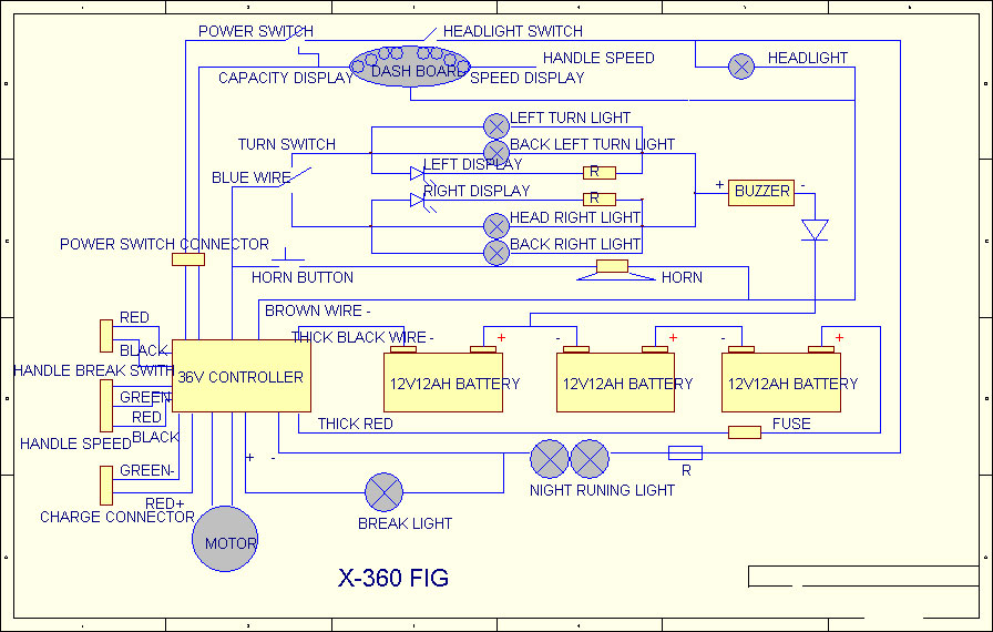 X-360 Scooter Parts | Xb 600 Xtreme Wiring Diagram |  | Scooter Parts and Scooters